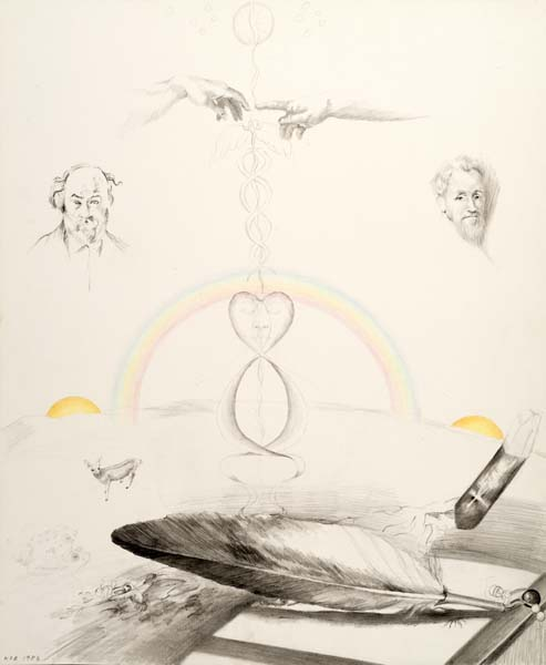Eagle Feather, drawing Kathleen O'Brien