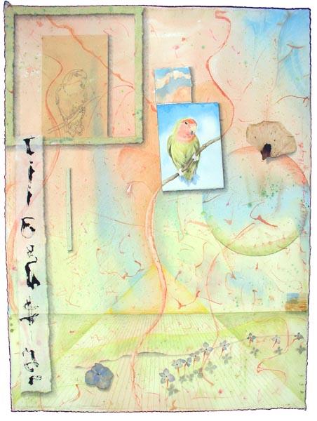 "Kathleen O'Brien, ""Dawn Space"", collage"