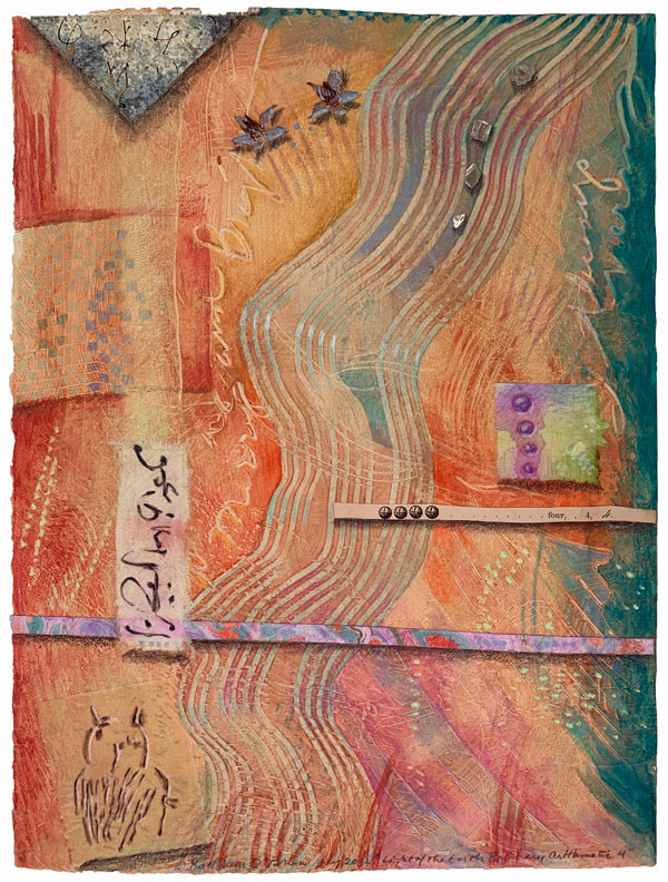 """""""Light of the Earth 4"""", collaged drawing on paste paper, ©Kathleen O'Brien 2012"""