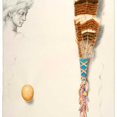 "Kathleen O'Brien, ""Turkey Feather Fan"", drawing"