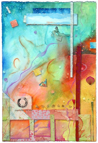 """Kathleen O'Brien, """"Outer World"""", collage"""
