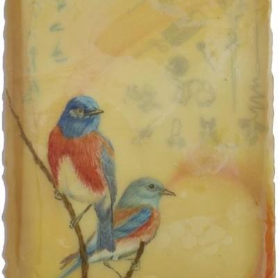 Western Bluebirds, Giclee Print