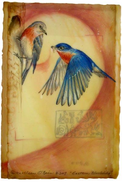 Eastern Bluebirds, Giclee Print