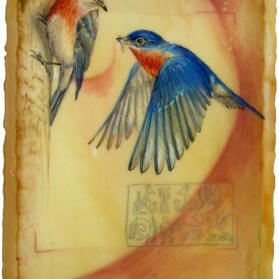 Eastern Bluebirds, Giclee Print