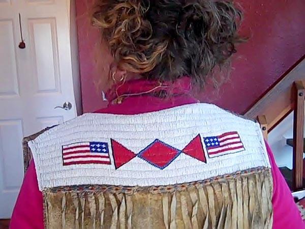 Jacob March's Arapaho Vest, Back