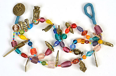 """Talisman for Good Luck"" bead bracelet Kathleen O'Brien"