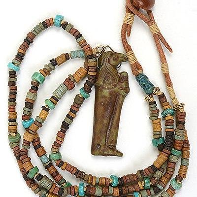 """Talisman for Longevity"" bead necklace by Kathleen O'Brien"