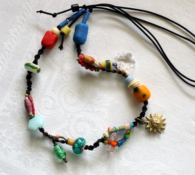"""Talisman for Sun Lovers"" bead necklace by Kathleen O'Brien"