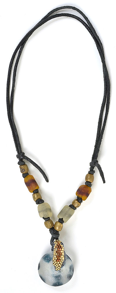 """Talisman for Wild Animals"" bead necklace by Kathleen O'Brien"