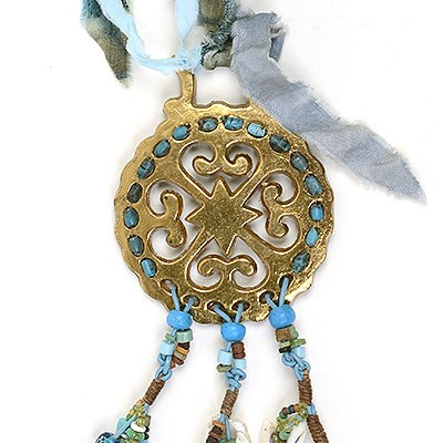 """Talisman for 4 Elements"" beaded bridle decoration Kathleen O'Brien"