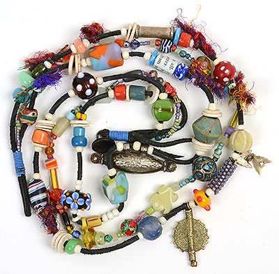 """""""Talisman for the Heart"""" bead necklace Kathleen O'Brien"""