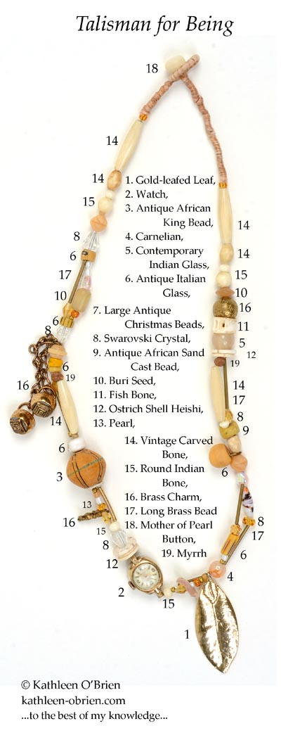 """Talisman for Being"" necklace bead ID Kathleen O'Brien"