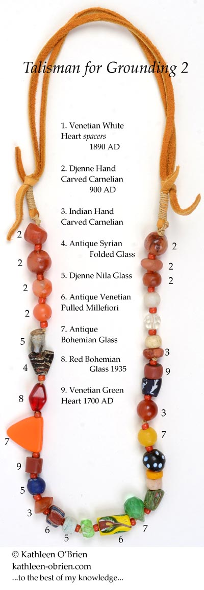 """Talisman for Grounding 2"" necklace bead ID by Kathleen O'Brien"
