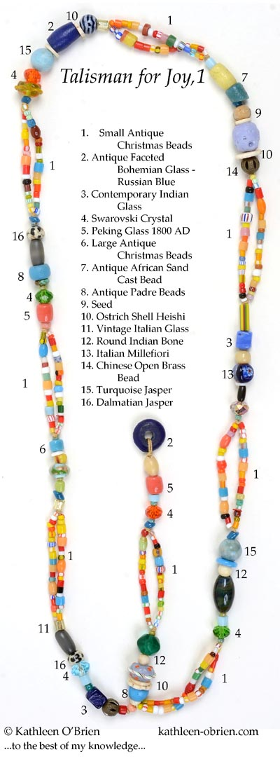 """Talisman for Joy 1"" necklace bead ID Kathleen O'Brien"