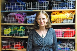 Fox Hutt with fabric baskets at Lacewing Studio