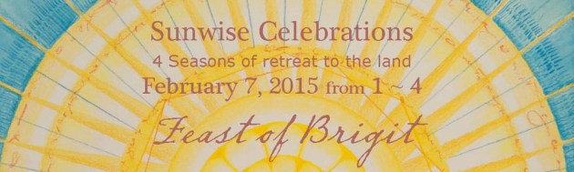 """Feast of Brigit"", detail of flyer for Sunwise Celebration by Kathleen O'Brien"