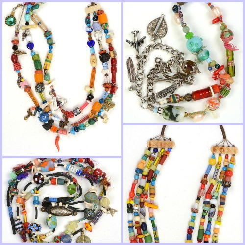 "Collage of jewelry by Kathleen O'Brien in ""Handmade Jewelry Collections"" article on Art Business Institute site"