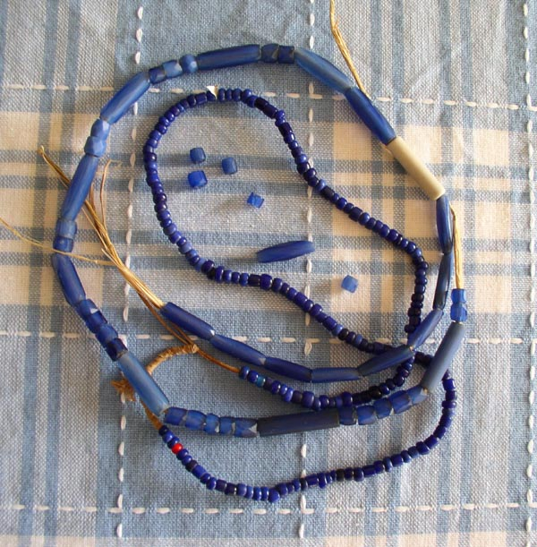Russian Blues &Old Blue Glass Beads