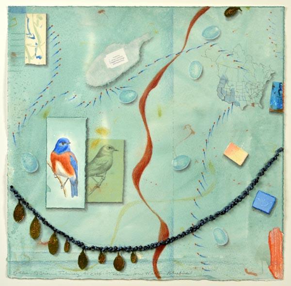 "Kathleen O'Brien, ""Talisman for Western Bluebirds"""
