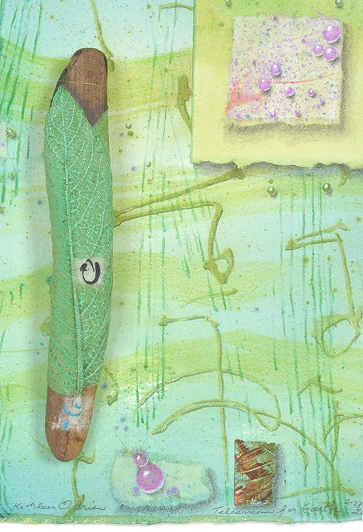 """""""Talisman for the Earth"""", MM Collage, detail, by Kathleen O'Brien"""