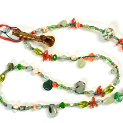 """""""Talisman for Flower Gardeners"""" necklace by Kathleen O'Brien"""
