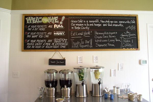 Grace Cafe, a pay-what-you-can Community Restaurant