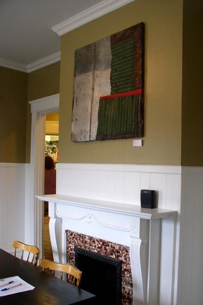 Grace Cafe, Brandon Long's piece over the fireplace