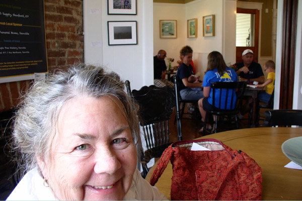 Grace Cafe, Kathleen O'Brien with Talismans in the distance