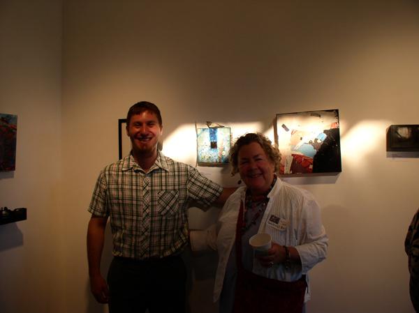 "KO'B & Nathan Zamarron with ""Talisman for Children"" at ""notBIG(3)""exhibit, photo Greg Orth"