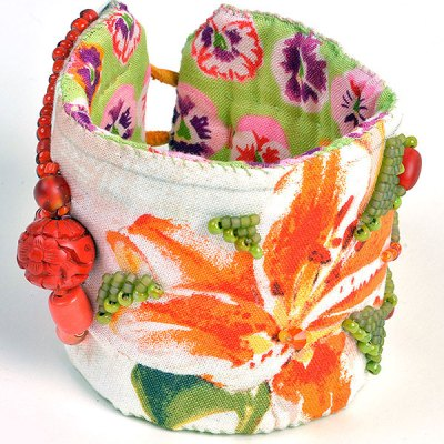 Talisman for Spring Flowers, cuff by Kathleen O'Brien