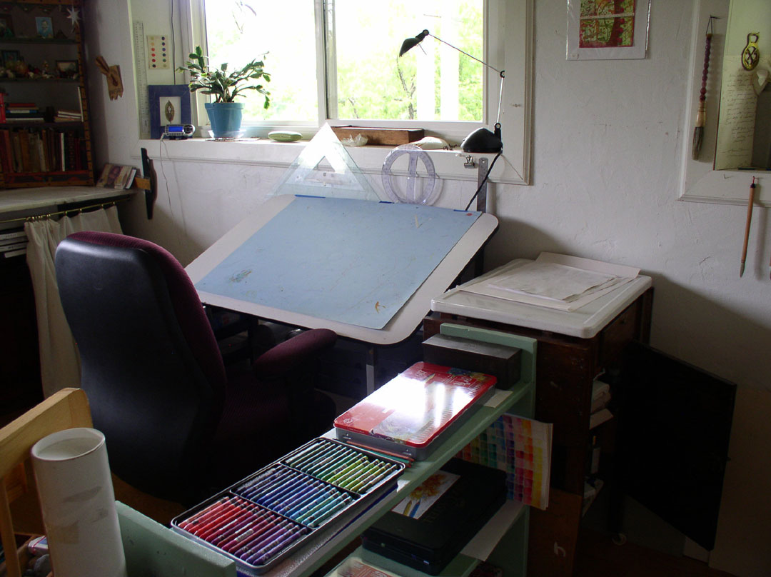Drawing Table in Kathleen O'Brien Studio