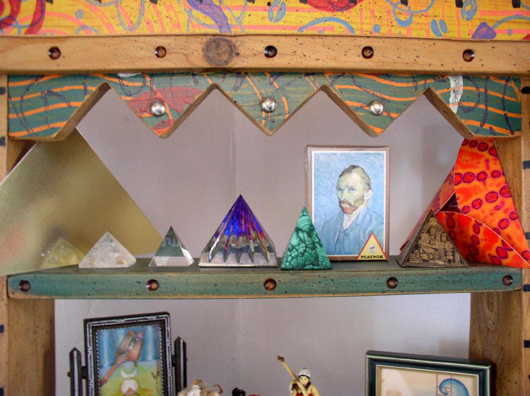 Van Gogh shelf in the studio