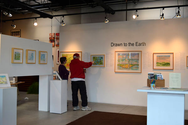 """Just as we finished, we had the first visitor to """"Drawn to the Earth"""""""