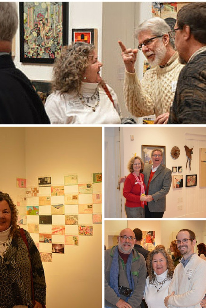 Juxtapose Reception with John Dixon, Mary Beth Touchstone, Nick Lacy, Brandon Long and me some of the postcards