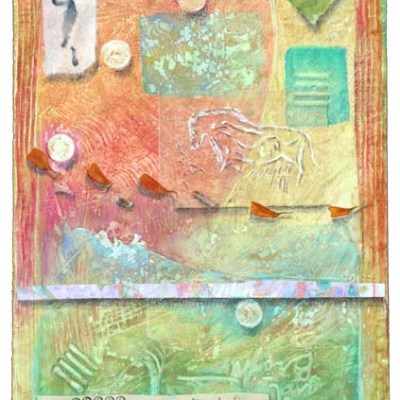 Light of the Earth 5, collage by Kathleen O'Brien
