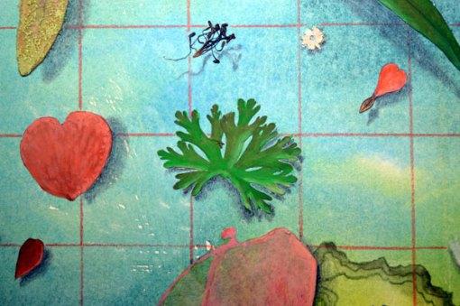 50 Botanicals, collage by Kathleen O'Brien, detail 3, 14×17″