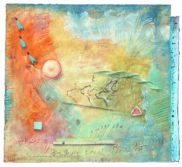 Light of the Earth 1, collage by Kathleen O'Brien