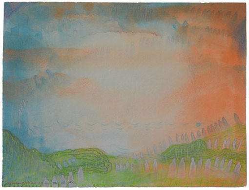 "Tir Na Nog, watercolor by Kathleen O'Brien, 12x16"""