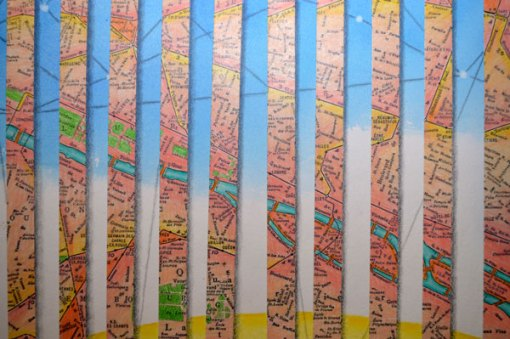Walls and Gates, Detail 2, collage by Kathleen O'Brien, 14x17""