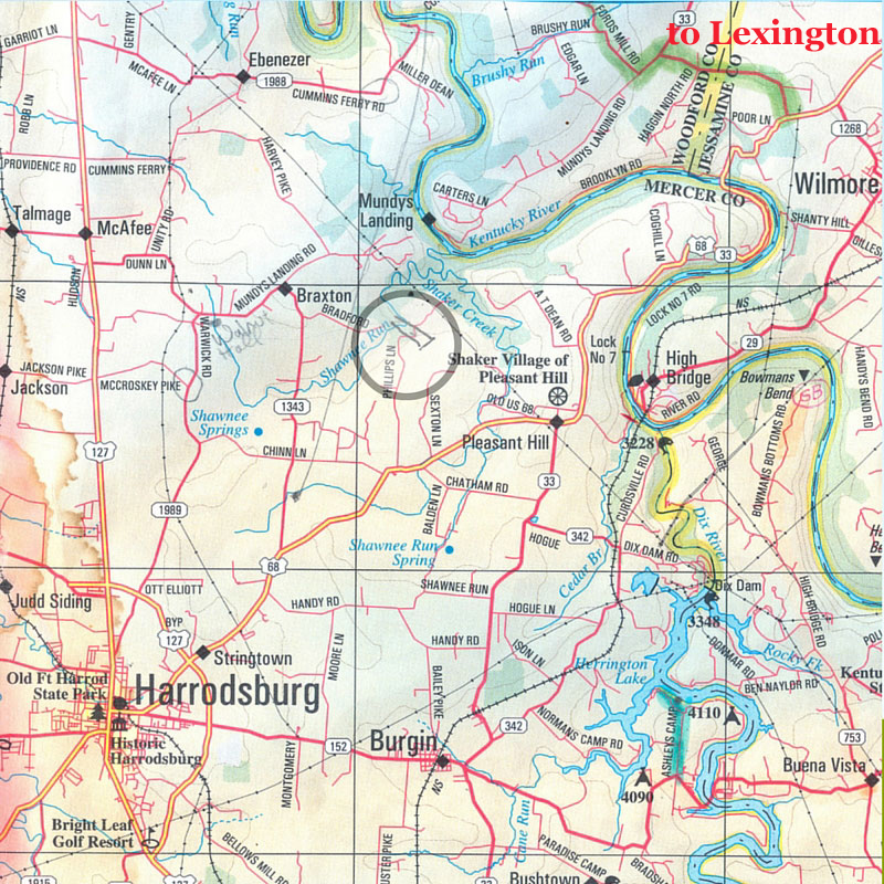 Map to Kathleen O'Brien Studio at Sunwise Farm & Sanctuary