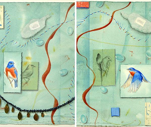 "Details of ""Talisman for Eastern & Western Bluebirds"" by Kathleen O'Brien"