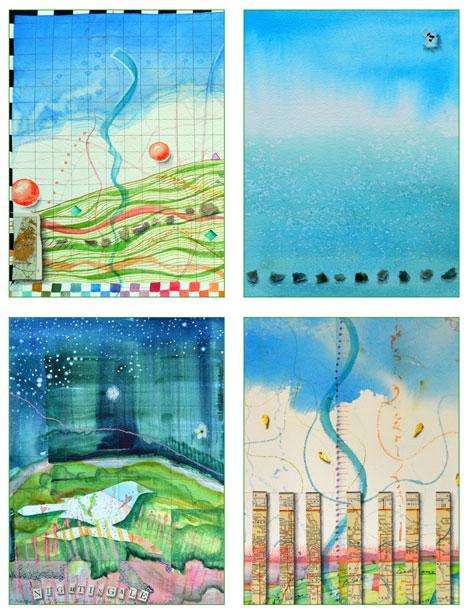 Summer Skies card set by Kathleen O'Brien
