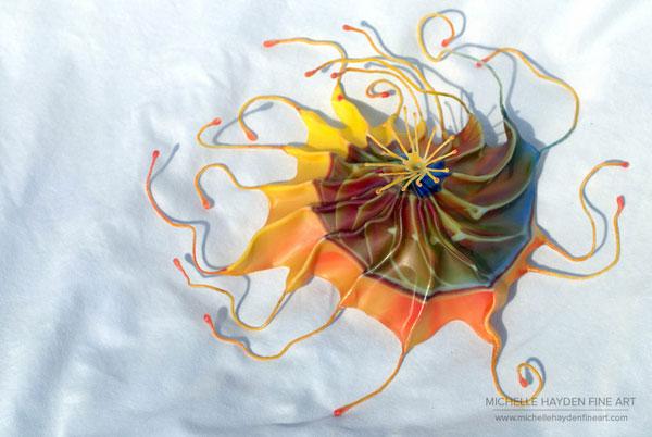 """Inner Light"", encautistic sculpture by Michelle Hayden"