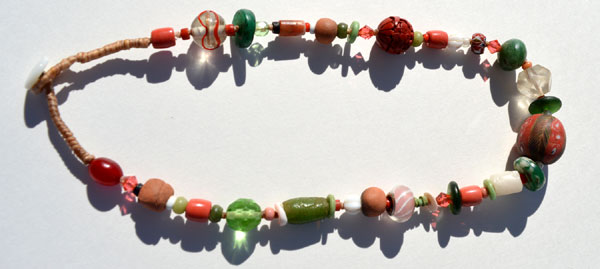 """""""Talisman for Transitions"""", ancient, antique, vintage, handmade bead necklace by Kathleen O'Brien"""