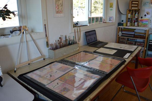 Portfolios in the studio