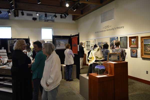 "Entering ""225: Artists Celebrate Kentucky's History"" reception: photo, Greg Orth"