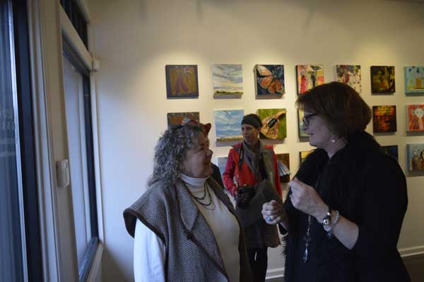 KO'B with Frankie York, New Editions Gallery owner, photo: Greg Orth