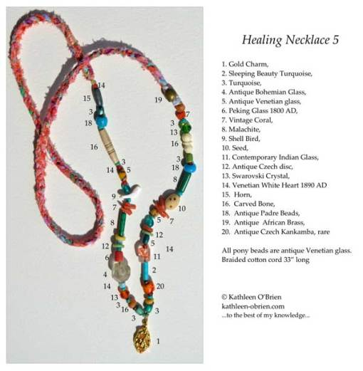 Healing Necklace 5 ID tag by Kathleen O'Brien