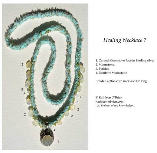Healing Necklace 7 ID tag by Kathleen O'Brien