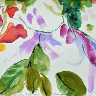 Bouquet 24, watercolor by Kathleen O'Brien, 4.5x6""